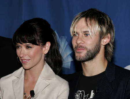 nominations: Jennifer Love Hewitt and Dominic Monaghan at the 32 nd Annual Peoples Choice Awards Nominations at The Hollywood Roosevelt Hotel in Hollywood, USA on November 10, 2005.