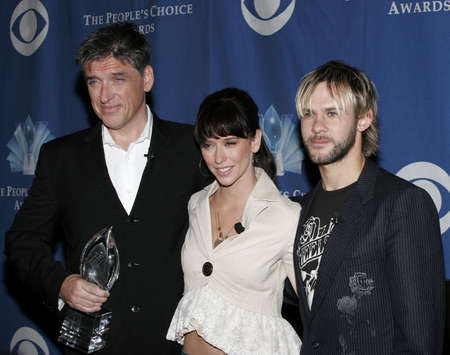 Craig Ferguson, Jennifer Love Hewitt and Dominic Monaghan at the 32 nd Annual Peoples Choice Awards Nominations at The Hollywood Roosevelt Hotel in Hollywood, USA on November 10, 2005.