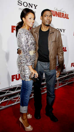 Chris Rock and Malaak Compton at the World premiere of Death At A Funeral held at the Arclight Cinerama Dome, Hollywood, USA on April 12, 2010. Editorial