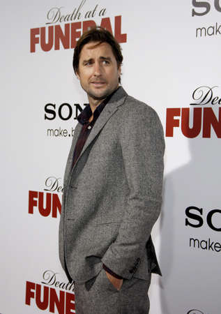 wilson: Luke Wilson at the World premiere of Death At A Funeral held at the Arclight Cinerama Dome in Hollywood, USA on April 12, 2010.