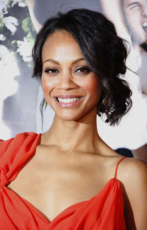 Zoe Saldana at the Los Angeles premiere of Death At A Funeral held at the ArcLight Cinerama Dome in Hollywood, USA on April 12, 2010.