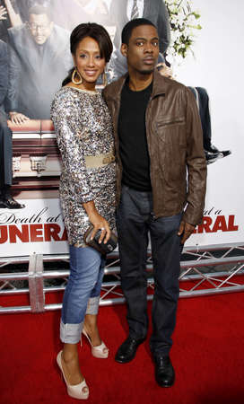 Chris Rock and Malaak Compton at the World premiere of Death At A Funeral held at the Arclight Cinerama Dome in Hollywood, USA on April 12, 2010. Editorial