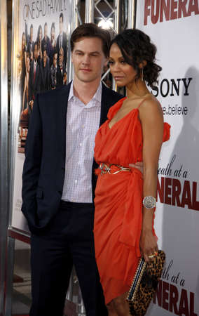 keith: Keith Britton and Zoe Saldana at the World premiere of Death At A Funeral held at the Arclight Cinerama Dome in Hollywood, USA on April 12, 2010.