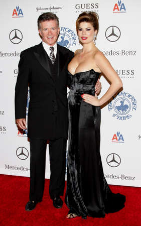 Alan Thicke and Tanya Callau at the 30th Anniversary Carousel Of Hope Ball held at the Beverly Hilton Hotel in Beverly Hills, California, United States on October 25, 2008.
