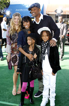 Fergie, Willow Smith, Jaden Smith, Will Smith and Jada Pinkett Smith at the Los Angeles premiere of