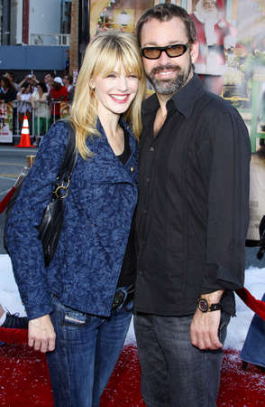 morris: David Barrett and Kathryn Morris at the Los Angeles premiere of Fred Clause held at the Graumans Chinese Theater in Hollywood, USA on November 3, 2007.