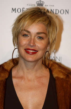bel air: Sharon Stone at the Scandinavian Style Mansion held at the Private Residence in Bel Air, California, United States on December 1, 2007.