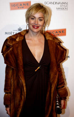 Sharon Stone at the Scandinavian Style Mansion held at the Private Residence in Bel Air, California, United States on January 12, 2007. Editorial