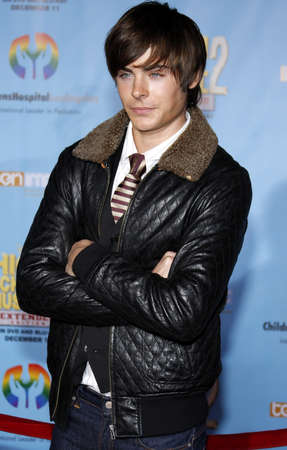 Zac Efron at the DVD Release premiere of High School Musical 2: Extended Edition held at the El Capitan Theater in Hollywood, USA on November 19, 2007. Editorial