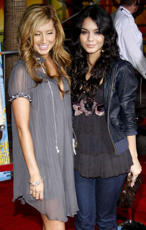 Vanessa Hudgens and Ashley Tisdale at the DVD Release premiere of High School Musical 2: Extended Edition held at the El Capitan Theater in Hollywood, USA on November 19, 2007.