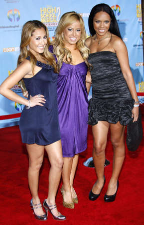 The Cheetah Girls at the DVD Release premiere of High School Musical 2: Extended Edition held at the El Capitan Theater in Hollywood, USA on November 19, 2007. Editorial