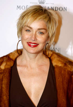 bel air: Sharon Stone at the Scandinavian Style Mansion Party held at the Private Residence in Bel Air, USA on December 1, 2007.
