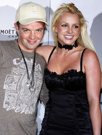 bel air: Claus Hjelmbak and Britney Spears at the Scandinavian Style Mansion held at the Private Residence in Bel Air, USA on December 1, 2007.