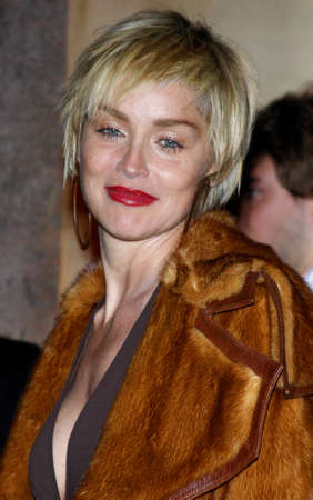 Sharon Stone at the Scandinavian Style Mansion held at the Private Residence in Bel Air, USA on December 1, 2007. Redakční