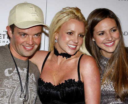 bel air: Claus Hjelmbak, Britney Spears and Alli Sims at the Scandinavian Style Mansion held at the Private Residence in Bel Air, USA on December 1, 2007. Editorial