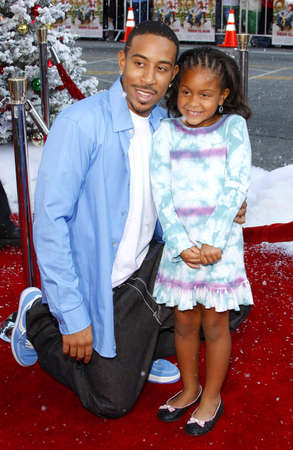 hollywood christmas: Chris Ludacris Bridges and daughter Karma at the World premiere of Fred Claus held at the Graumans Chinese Theater in Hollywood, USA on November 3, 2007.