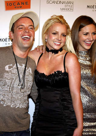 Claus Hjelmbak, Britney Spears and Alli Sims at the Scandinavian Style Mansion held at the Private Residence in Bel Air, USA on December 1, 2007. Editorial