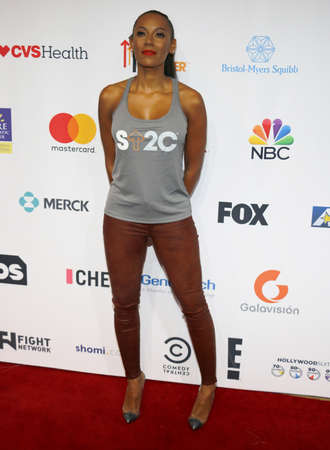 Mel B at the 5th Biennial Stand Up To Cancer held at the Walt Disney Concert Hall in Los Angeles, USA on September 9, 2016.