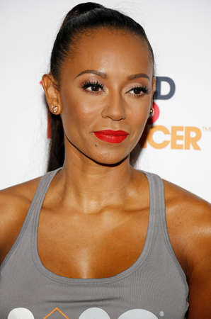 mel: Mel B at the 5th Biennial Stand Up To Cancer held at the Walt Disney Concert Hall in Los Angeles, USA on September 9, 2016.