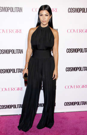 Kourtney Kardashian at the Cosmopolitans 50th Birthday Celebration held at the Ysabel in Los Angeles, USA on October 12, 2015.