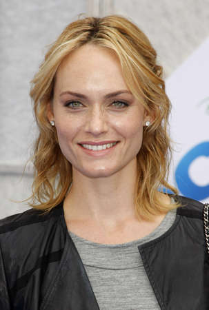 Amber Valletta at the Los Angeles premiere of Oceans held at the El Capitan Theater in Hollywood, USA on April 17, 2010.