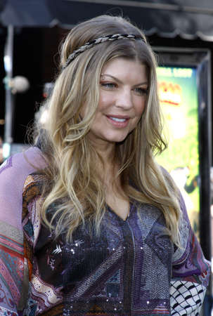 Fergie at the Los Angeles premiere of Madagascar: Escape 2 Africa held at the Mann Village Theater in Westwood, California, United States on October 26, 2008. Editorial