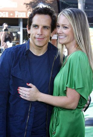 """Ben Stiller und Christine Taylor bei der Los Angeles-Premiere von """"Madagascar: Escape 2 Africa"""" ??am 26. Oktober 2008 im Mann Village Theater in Westwood, Kalifornien, USA. Standard-Bild - 77202218"""