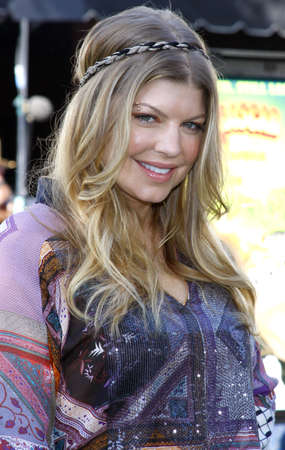 Fergie at the Los Angeles premiere of 'Madagascar: Escape 2 Africa' held at the Mann Village Theater in Westwood, USA on October 26, 2008. Standard-Bild - 111246198