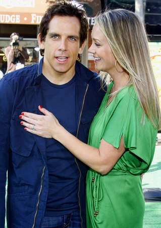 Ben Stiller and Christine Taylor at the Los Angeles premiere of Madagascar: Escape 2 Africa held at the Mann Village Theater in Westwood, USA on October 26, 2008.