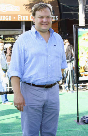 Andy Richter at the Los Angeles premiere of Madagascar: Escape 2 Africa held at the Mann Village Theater in Westwood, USA on October 26, 2008.