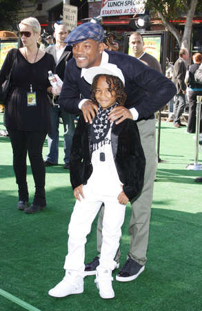 Jaden Smith and Will Smith at the Los Angeles premiere of