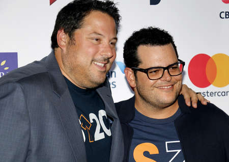gad: Greg Grunberg and Josh Gad at the 5th Biennial Stand Up To Cancer held at the Walt Disney Concert Hall in Los Angeles, USA on September 9, 2016.