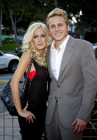 Spencer Pratt and Heidi Montag at the LG Electronics (LG) Launch of the Scarlet HDTV Series held at the Pacific Design Center in West Hollywood, USA on April 28, 2008. Editorial