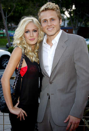 Heidi Montag and Spencer Pratt at the LG Electronics (LG) Launch of the Scarlet HDTV Series held at the Pacific Design Center in West Hollywood, California, United States on April 28, 2008.