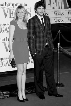 Cameron Diaz and Ashton Kutcher at the World premiere of What Happens in Vegas held at the Mann Village Theater in Westwood, California, United States on May 1, 2008.
