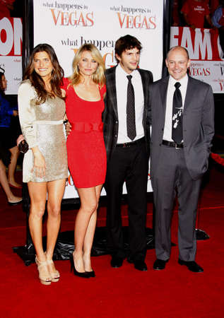 happens: Lake Bell, Cameron Diaz, Ashton Kutcher and Rob Corddry at the World premiere of What Happens in Vegas held at the Mann Village Theater in Westwood, USA on May 1, 2008.