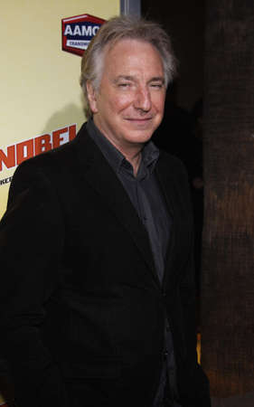 Alan Rickman at the Los Angeles premiere of Noble Son held at the Egyptian Theater in Hollywood, USA on December 2, 2008.