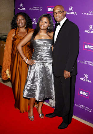 samuel: LaTanya Richardson, Zoe Jackson and Samuel L. Jackson at the 23rd Annual American Cinematheque Award Ceremony Honoring Samuel L. Jackson held at the Beverly Hilton Hotel in Beverly Hills, USA on December 1, 2008. Editorial