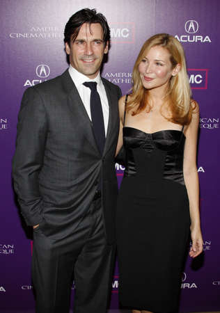 Jennifer Westfeldt and Jon Hamm at the 23rd Annual American Cinematheque Award Ceremony Honoring Samuel L. Jackson held at the Beverly Hilton Hotel in Beverly Hills, USA on December 1, 2008.