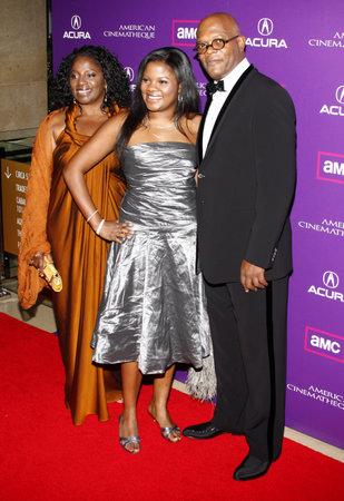 Zoe Jackson, LaTanya Richardson and Samuel L. Jackson at the 23rd Annual American Cinematheque Award Ceremony Honoring Samuel L. Jackson held at the Beverly Hilton Hotel in Beverly Hills, USA on December 1, 2008. Redakční