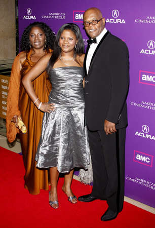 Zoe Jackson, LaTanya Richardson and Samuel L. Jackson at the 23rd Annual American Cinematheque Award Ceremony Honoring Samuel L. Jackson held at the Beverly Hilton Hotel in Beverly Hills, USA on December 1, 2008. Sajtókép