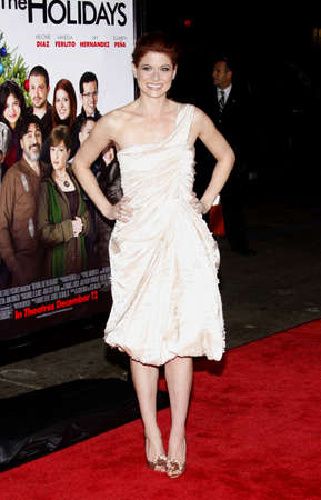 Debra Messing at the Los Angeles premiere of Nothing Like The Holidays held at the Graumans Chinese Theater in Hollywood, California, United States on December 3, 2008. Editorial