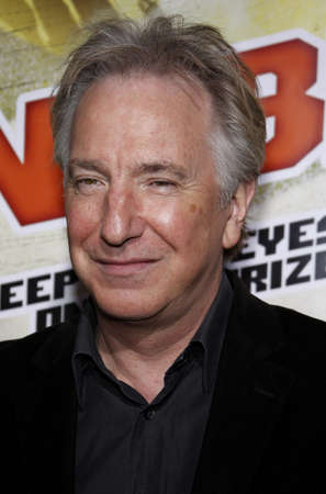 Alan Rickman at the Los Angeles premiere of