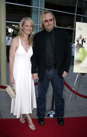 Helen Hunt and Matthew Carnahan at the Los Angeles premiere of The Thing About My Folks at the Arclight Cinemas in Hollywood, USA on September 7, 2005.