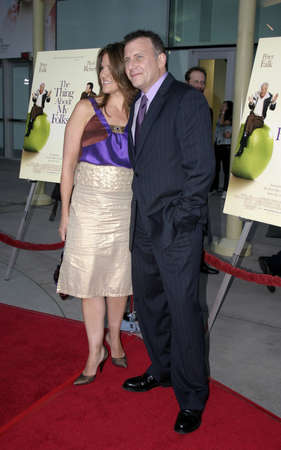 to paula: Paul Reiser and wife Paula at the Los Angeles premiere of The Thing About My Folks at the Arclight Cinemas in Hollywood, USA on September 7, 2005.