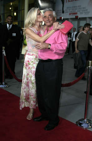 Peter Falk and Shera Danese at the Los Angeles premiere of The Thing About My Folks at the Arclight in Hollywood, USA on September 7, 2005.