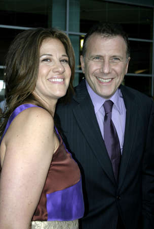 to paula: Paul Reiser and wife Paula at the Los Angeles premiere of The Thing About My Folks held at the ArcLight Cinemas in Hollywood, USA on September 7, 2005.