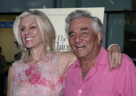 Peter Falk and Shera Danese at the Los Angeles premiere of The Thing About My Folks held at the ArcLight Cinemas in Hollywood, USA on September 7, 2005.
