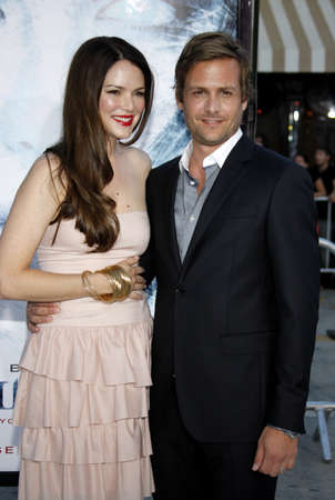 Gabriel Macht and Jacinda Barrett at the Los Angeles premiere of Whiteout held at the Mann Village Theater in Los Angeles, USA on September 9, 2009.