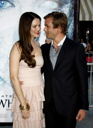 Gabriel Macht and Jacinda Barrett at the Los Angeles premiere of Whiteout held at the Mann Village Theatre in Westwood, USA on September 9, 2009.